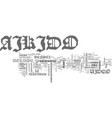 aikido video text word cloud concept vector image vector image