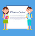 back to school color poster vector image vector image
