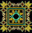 baroque embroidery 3d geometric seamless vector image