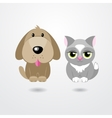Cartoon cat and dog isolated on white background vector image vector image
