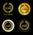 celebrating anniversary badges with elegent design vector image