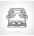 Coffee making sketch icon vector image
