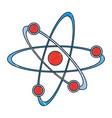 color pencil atom structure icon vector image vector image