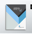 cover annual report blue and gray triangle design vector image