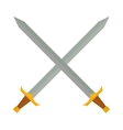 Cross swords vector image vector image
