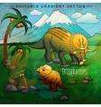 Dinosaur in the habitat Of vector image vector image