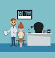doctors office cartoon vector image