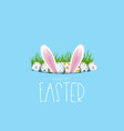 easter background with eggs and bunny ears vector image vector image