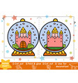 education christmas paper crafts for children vector image vector image