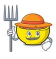 farmer soup union character cartoon vector image