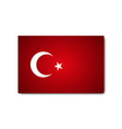 flag turkey with shadow on blank background vector image