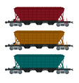 freight car vector image vector image