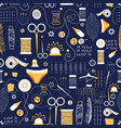 graphic pattern elements for sewing vector image vector image