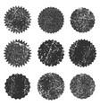 grunge black ink color empty stamps round frames vector image vector image