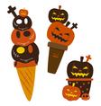 Halloween ice cream vector image vector image