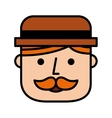 head face man hipsterstyle icon vector image vector image