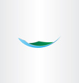 island mountain and water icon vector image vector image