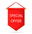 label sale special offer red promo banner of vector image vector image