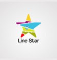 line star logo icon element and template vector image vector image