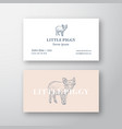 little piggy abstract feminine sign or logo vector image