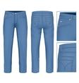 Men jeans vector image