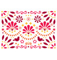 mexican traditional folk art pattern vector image vector image
