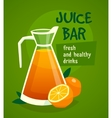 Orange Juice Design Concept vector image vector image