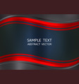 red and black color abstract background with copy vector image vector image