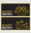 Restaurant menu Bakery and cafe Template design vector image vector image
