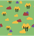 retro autumn nature forest pattern vector image vector image