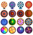 roulette icon set cartoon style vector image