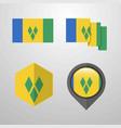 saint vincent and grenadines flag design set vector image vector image