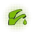 save water comics icon vector image