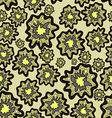 seamless pattern of blob flowers vector image vector image
