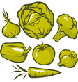 set green vegetable vector image