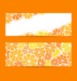 set horizontal bright banner with empty place vector image vector image