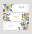 set of floral banner templates with elegant vector image