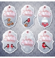 set of sale tags in grey color vector image vector image
