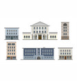 set of six buildings types vector image