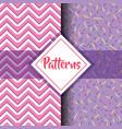 set patterns geometric modern graphic background vector image