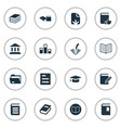 Set simple reading icons