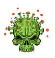 skull coronavirus vector image vector image