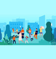 street musicians musical fest family dancing vector image