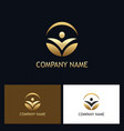 success people round gold logo vector image vector image