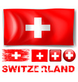 switzerland in different designs vector image