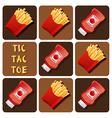 Tic-Tac-Toe of Ketchup and Fried Potatoes vector image