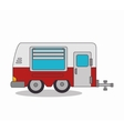 trailer camp isolated icon vector image vector image