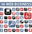 web business buttons vector image vector image