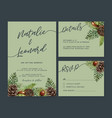wedding invitation watercolour design with cool vector image vector image