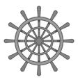 Wheel of ship icon black monochrome style vector image vector image